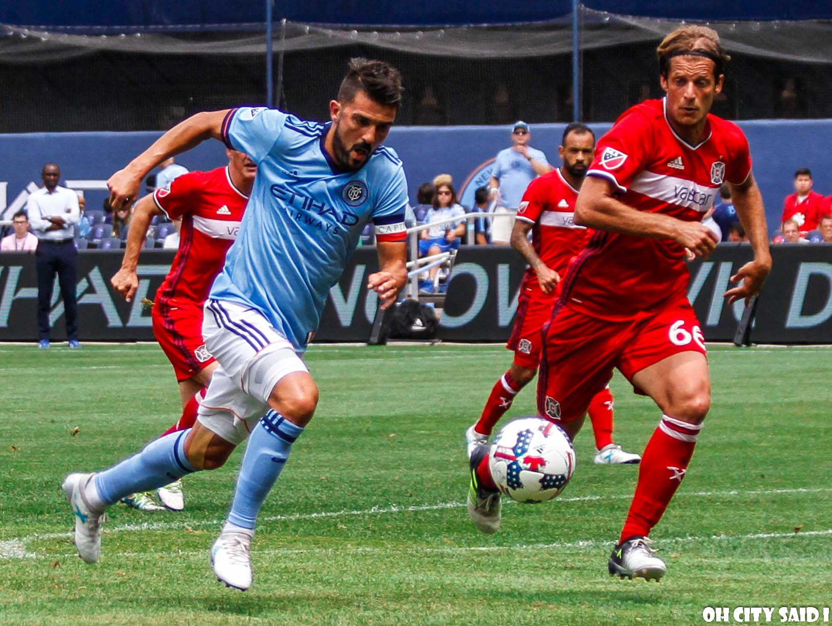 Despite playing most of the match with 10 men, NYCFC managed to pull off the win against Toronto FC