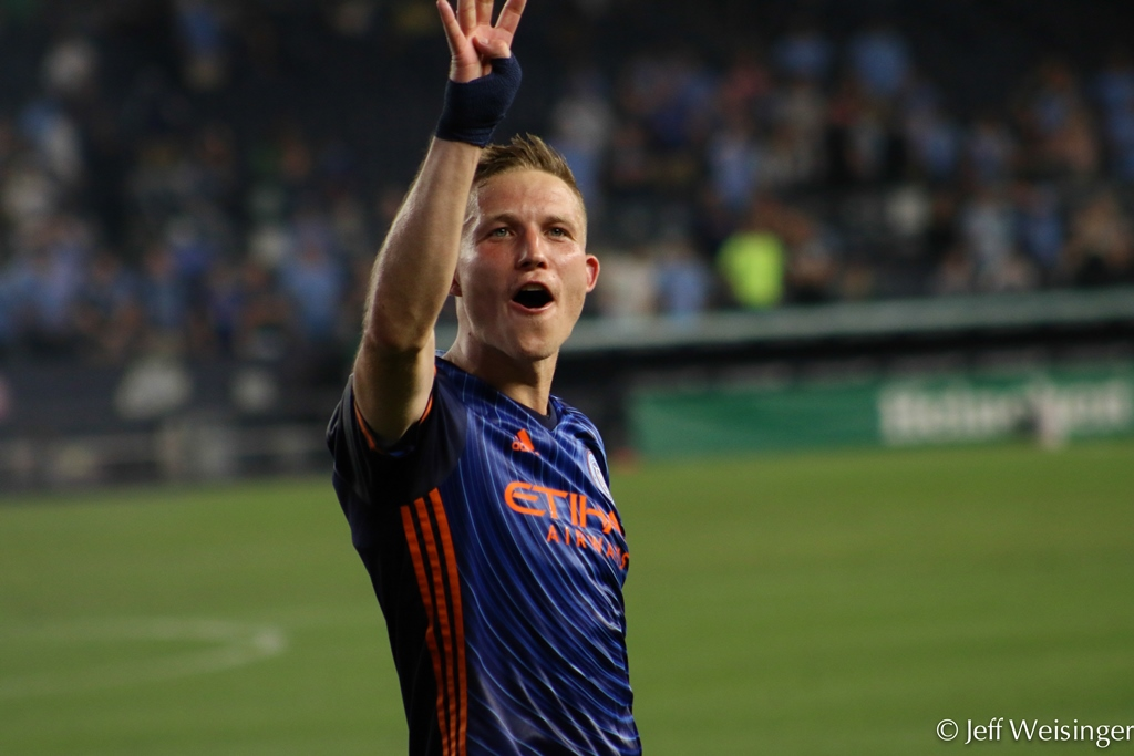 Alex Ring as been a solid addition to NYCFC's defense. Photo Credit: Jeff Weisinger
