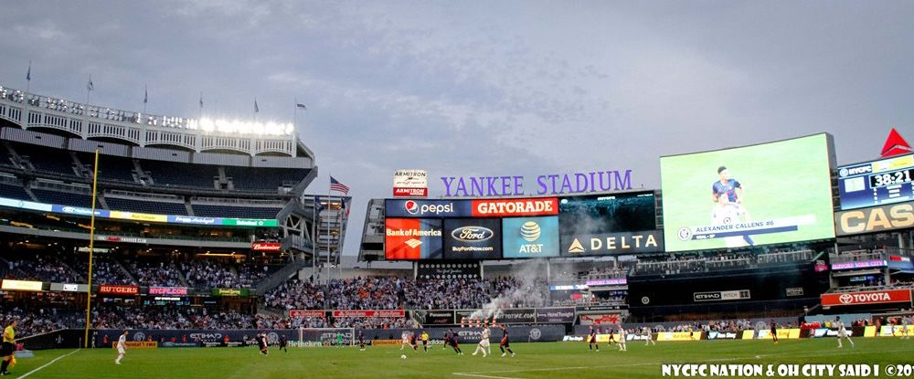 New York City FC at Yankee Stadium. Photo Credit: OhCitySaidi