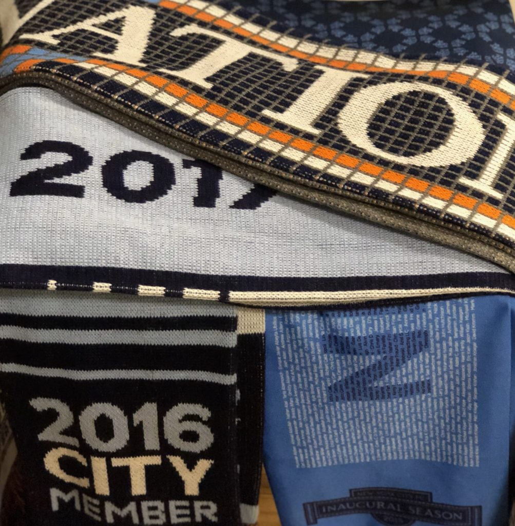 NYCFC Nation scarf available for purchase with all proceeds going to CITC