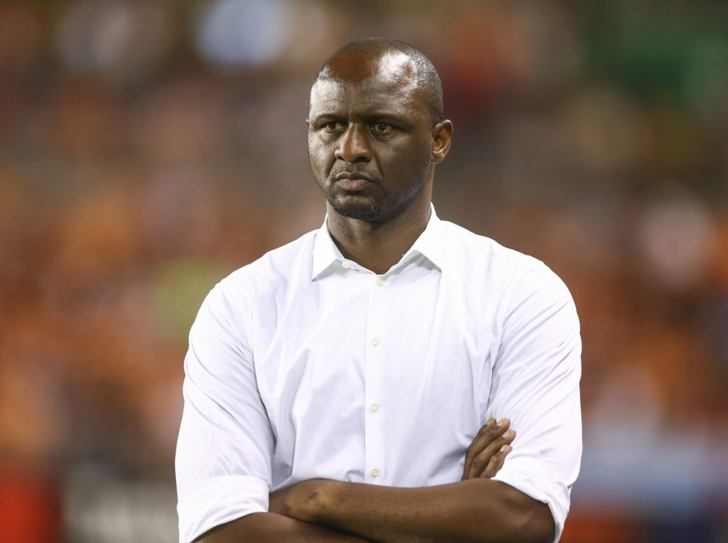 May 25, 2018; Houston, TX, USA; New York City FC head coach Patrick Vieira looks on during the second half against the Houston Dynamo at BBVA Compass Stadium. Mandatory Credit: Troy Taormina-USA TODAY Sports