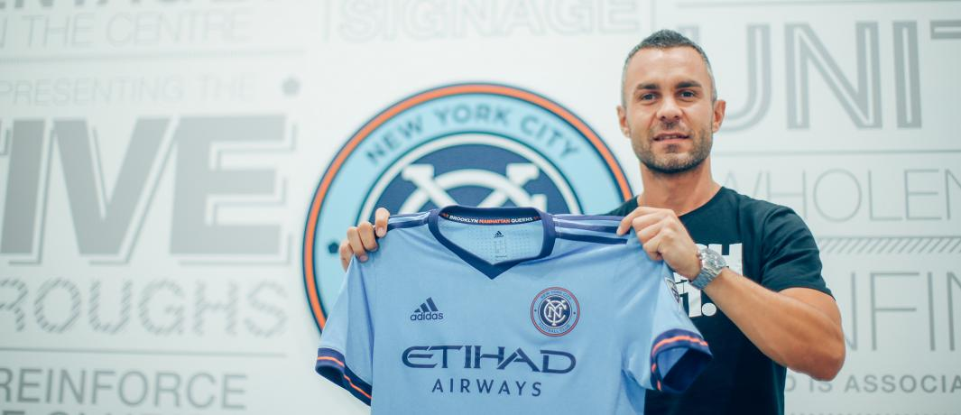 Eloi Amagat Signs for New York City FC Photo Credir: NYCFC