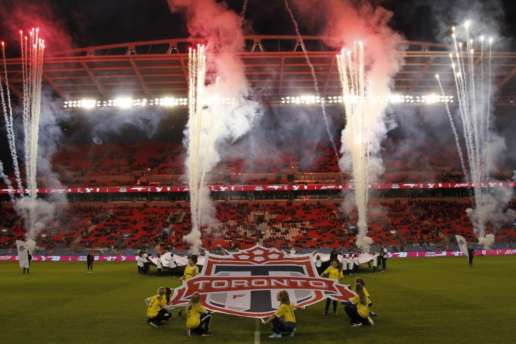 Mar 29, 2019; Toronto, Ontario, CAN; A general view of BMO Field pregame before a match between New York City FC and Toronto FC. Toronto defeated New York. Mandatory Credit: John E. Sokolowski-USA TODAY Sports