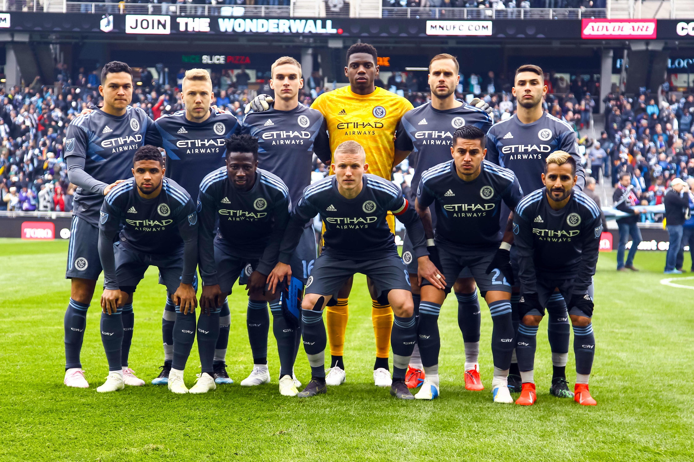Apr 13, 2019; Saint Paul, MN, USA; New York City poses before the start of the game against Minnesota United at Allianz Field. Mandatory Credit: David Berding-USA TODAY Sports